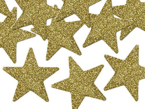 Confeti Estrellas color Dorado