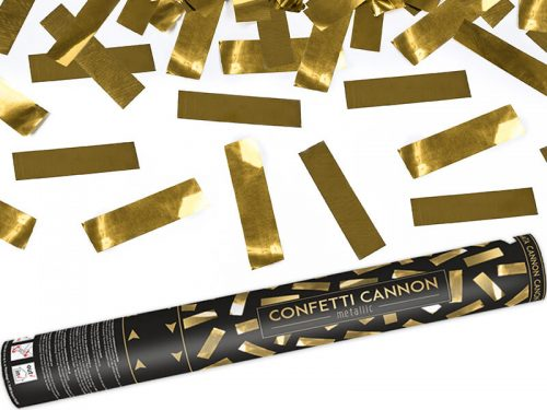 Cañon de Confeti color Dorado 40 cm
