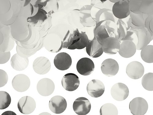 Confeti Circulo color Plata