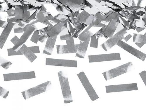 Cañon de Confeti color Plata 40 cm