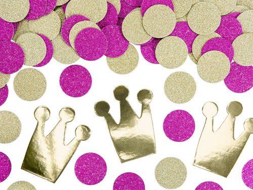 Confeti Circulo y Corona Princesas