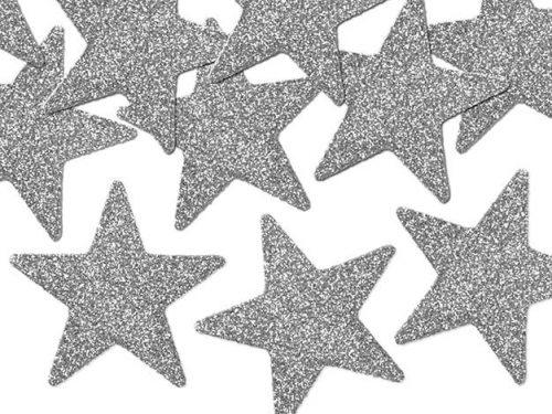 Confeti Estrellas color Plata