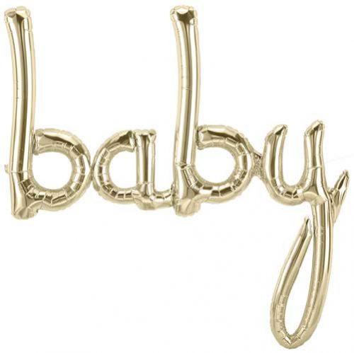 Globo letras Baby dorado