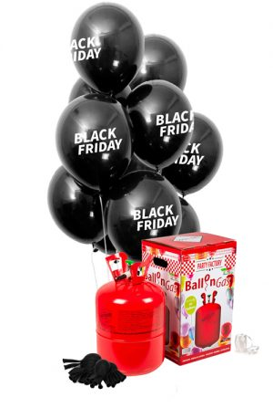 Pack helio Maxi + 25 globos Black Friday