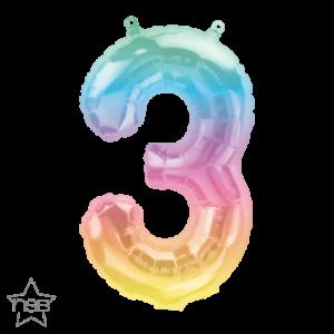 Globo número Multicolor 41 cms.