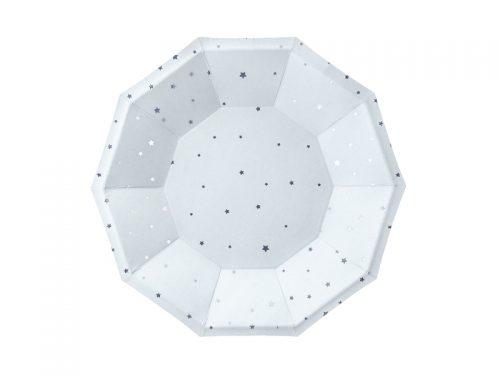 Platos color Azul claro con estrellas Plateadas 18cm