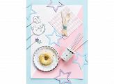 Platos color Blanco Estrellas de Colores 18cm
