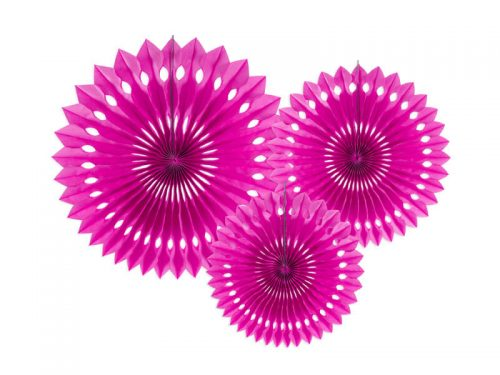 Rosetas decorativas color Fucsia