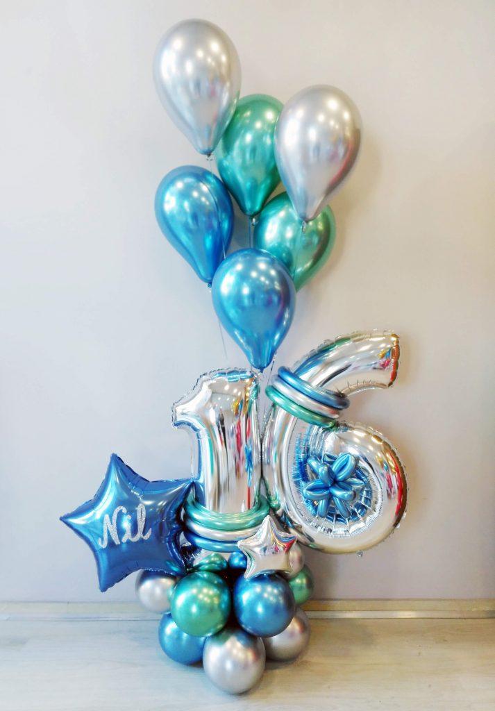 Centro cromado 16 cumpleaños