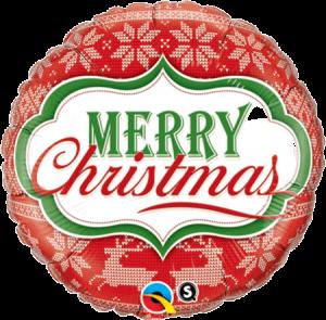 Globo metálico Merry Christmas