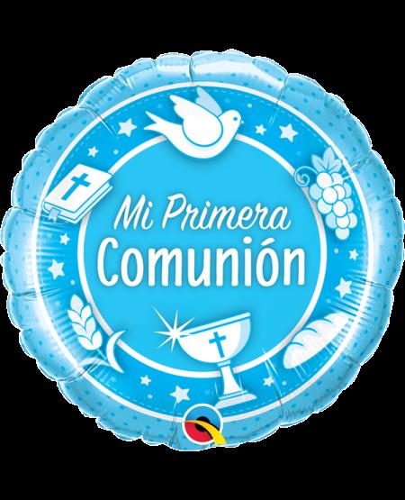 Globo metálico Mi Primera Comunión Niño