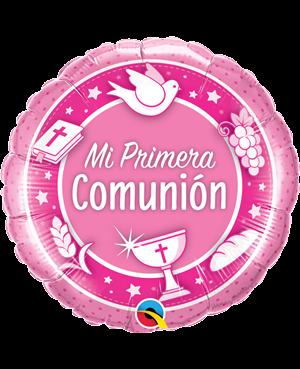 Globo metálico Mi Primera Comunión Niña