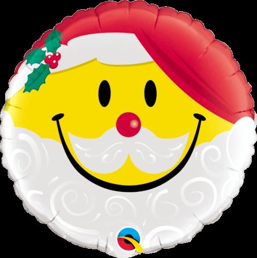 Globo metálico Smile Papá Noel