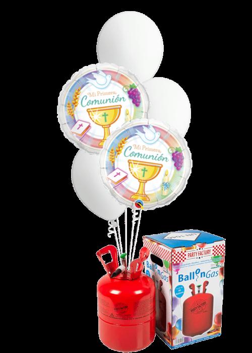 Helio + Bouquet de globos Primera Comunión Símbolos