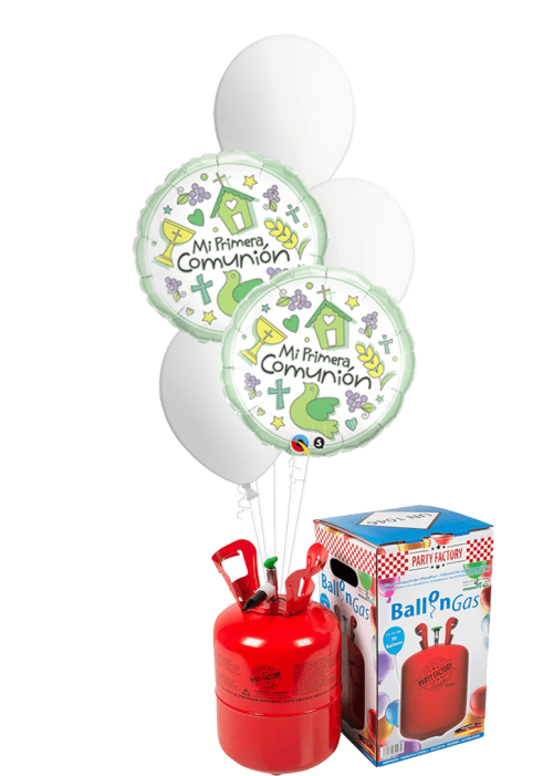 Helio + Bouquet de globos Mi Primera Comunión