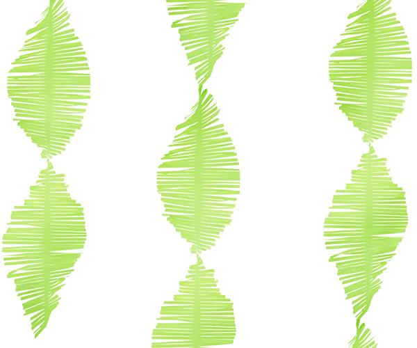 Papel Crepe con flecos lima