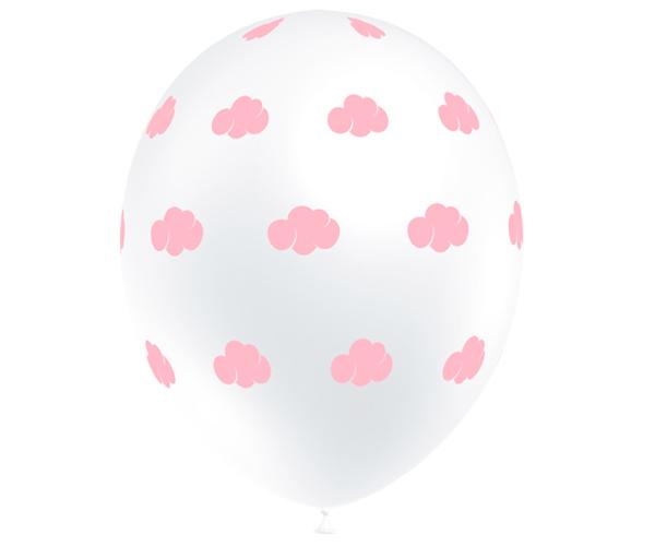 Globos de látex nubes rosa