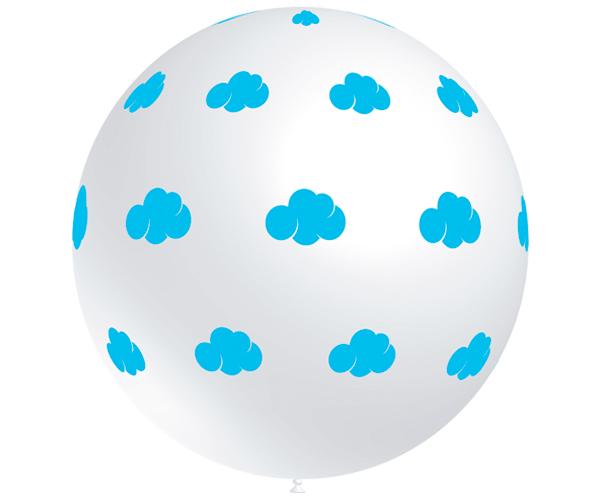 Globos de látex Nube Azul gigante