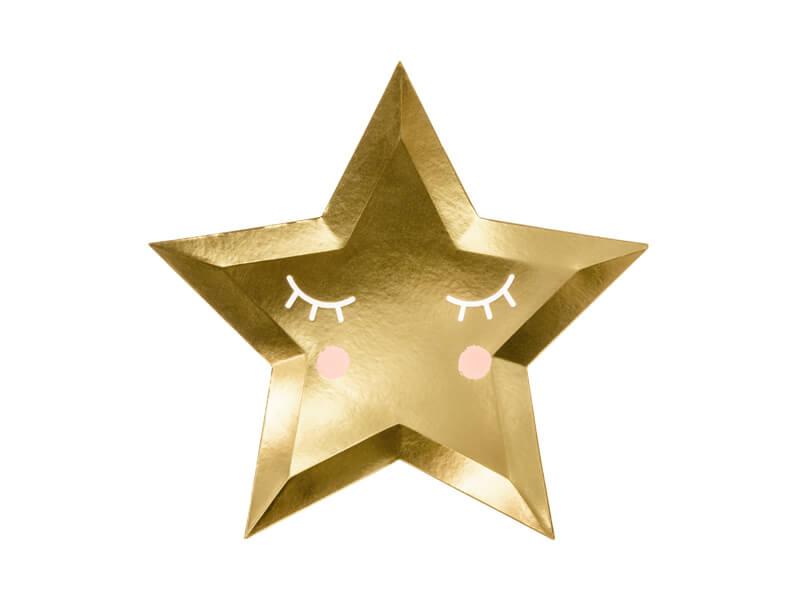 Platos pequeña estrella dorada 27cm