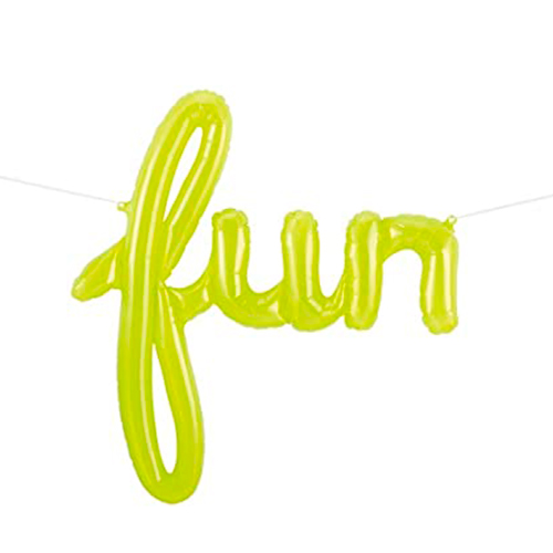 Globo letras Fun verde