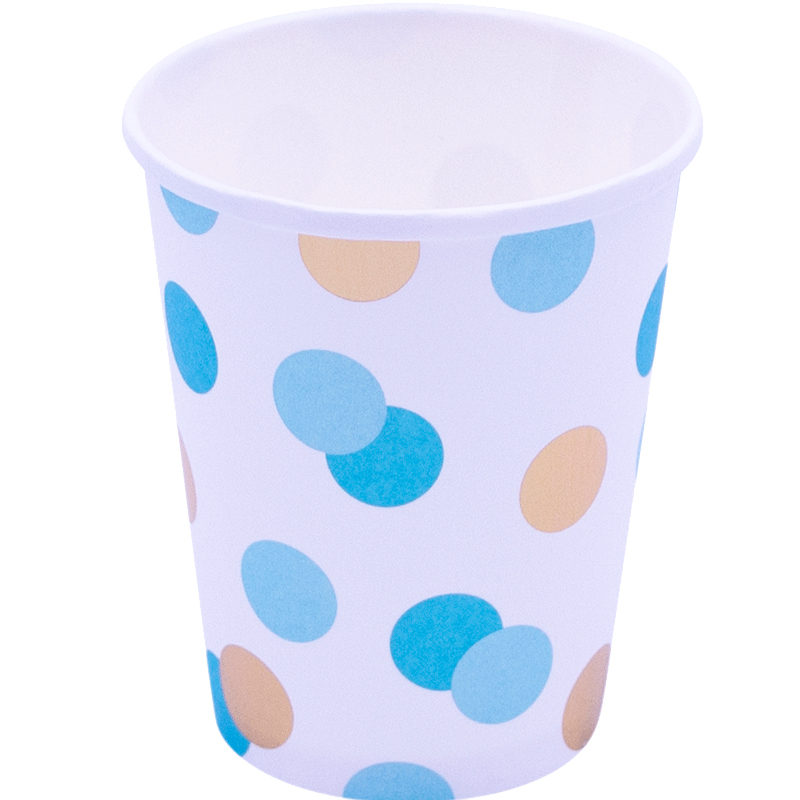 Vaso Blue & Gold Dots