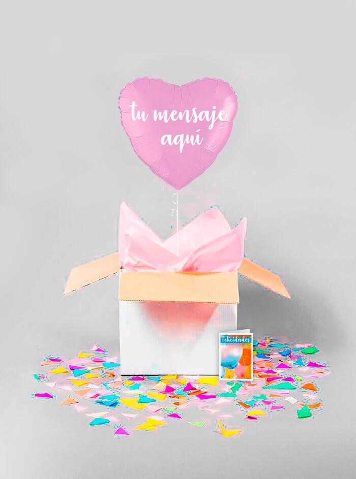 Caja sorpresa corazón lila