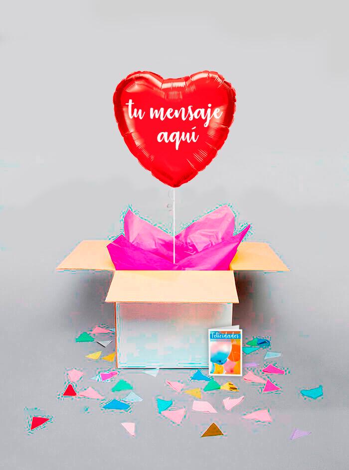 Caja sorpresa corazon rojo
