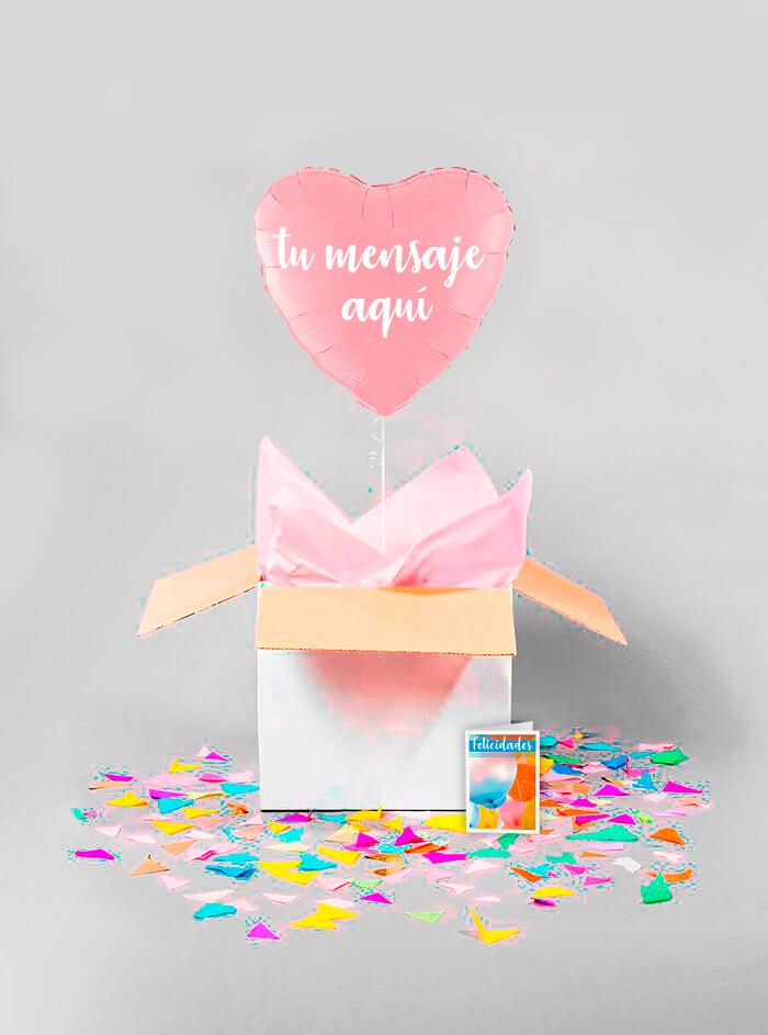 Caja sorpresa corazon rosa
