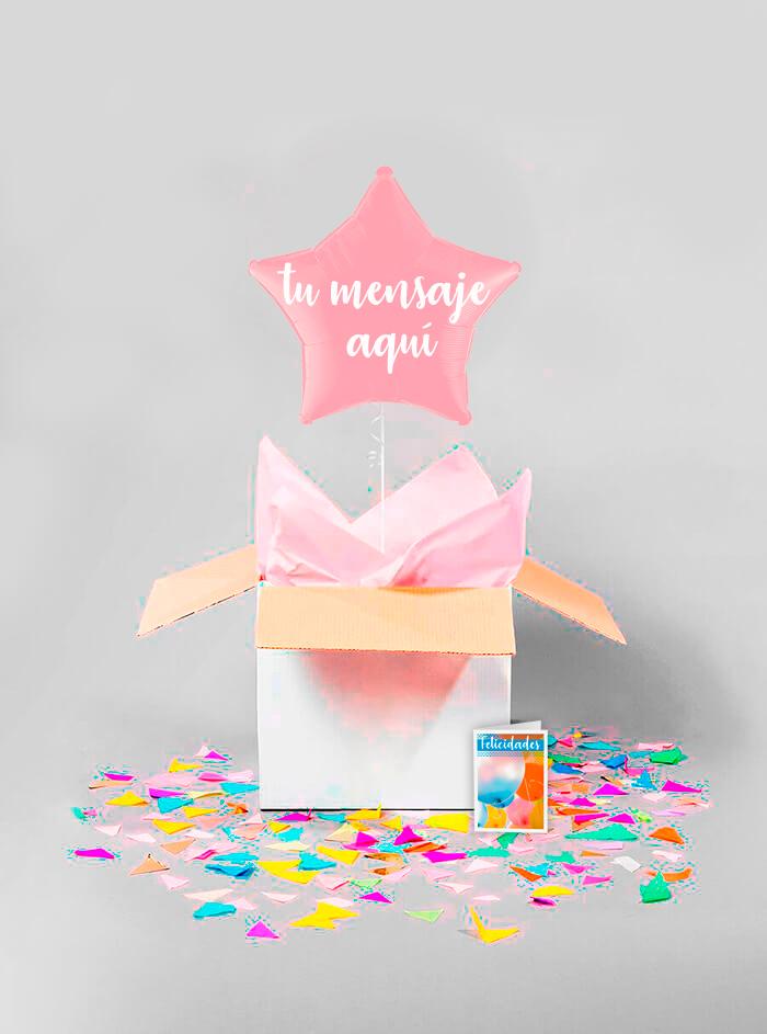 Caja sorpresa estrella rosa