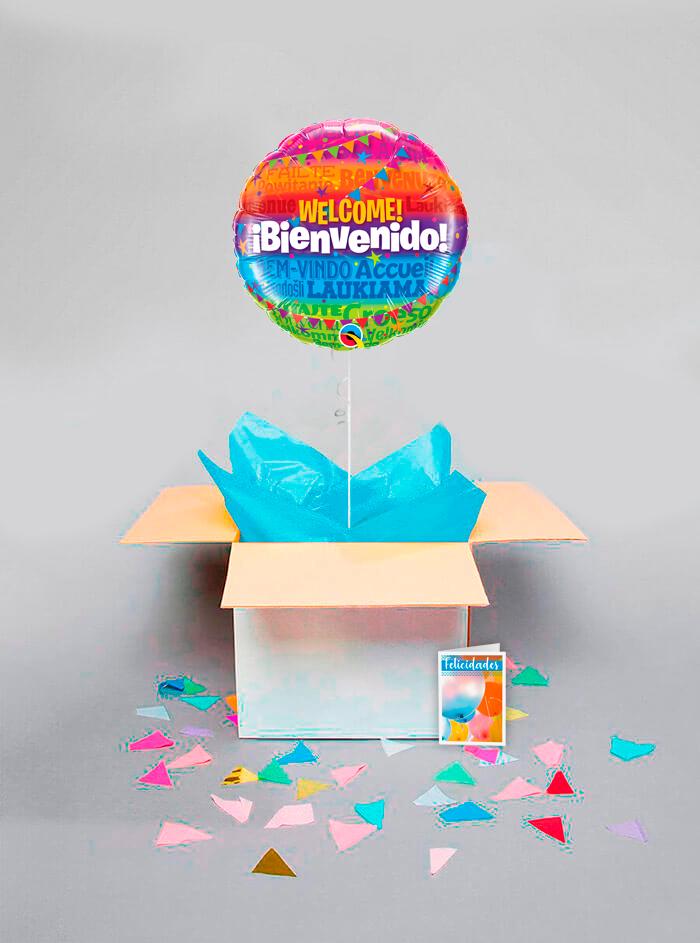 Caja sorpresa Bienvenido