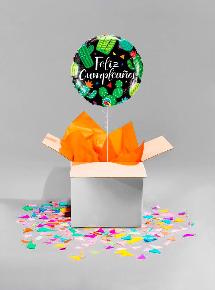 Caja sorpresa Feliz Cumpleaños cactus