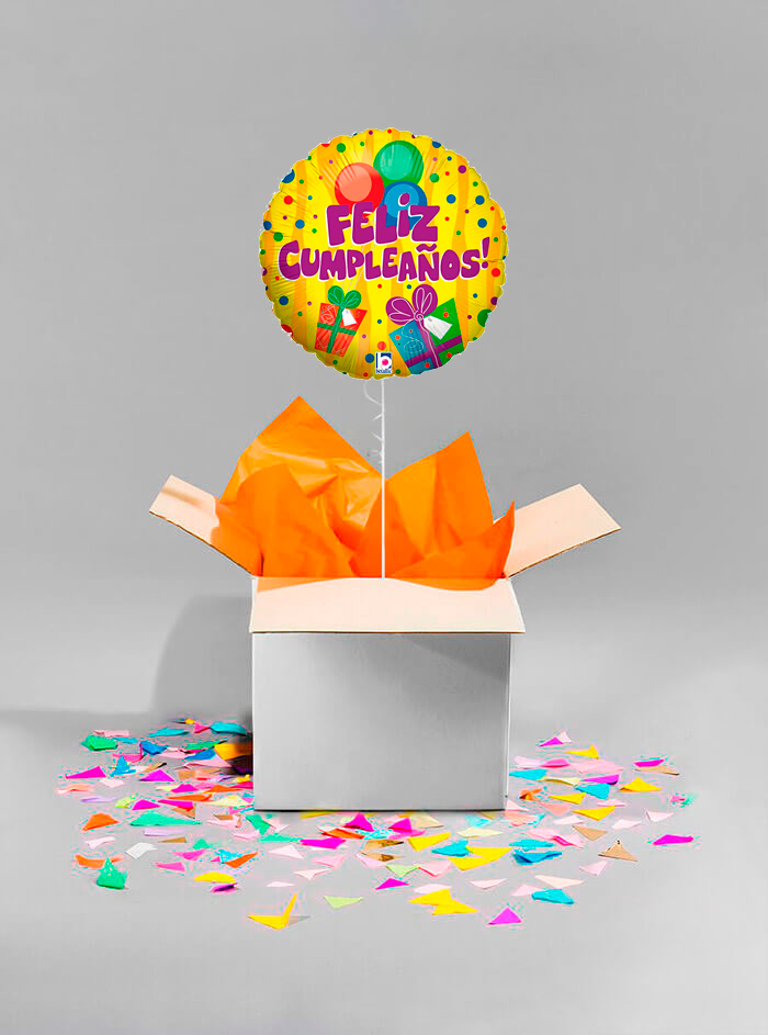 Caja sorpresa Feliz Cumpleaños cajitas