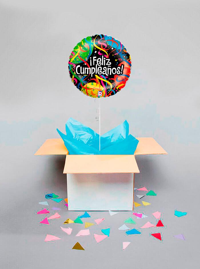 Caja sorpresa Feliz Cumpleaños serpentina