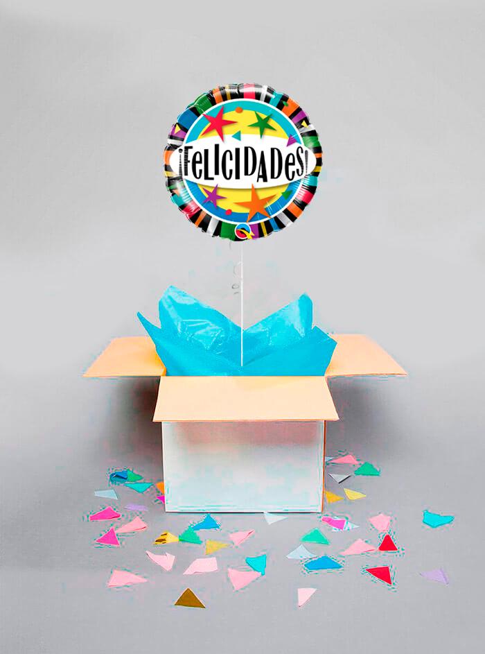 Caja sorpresa Felicidades estrellas