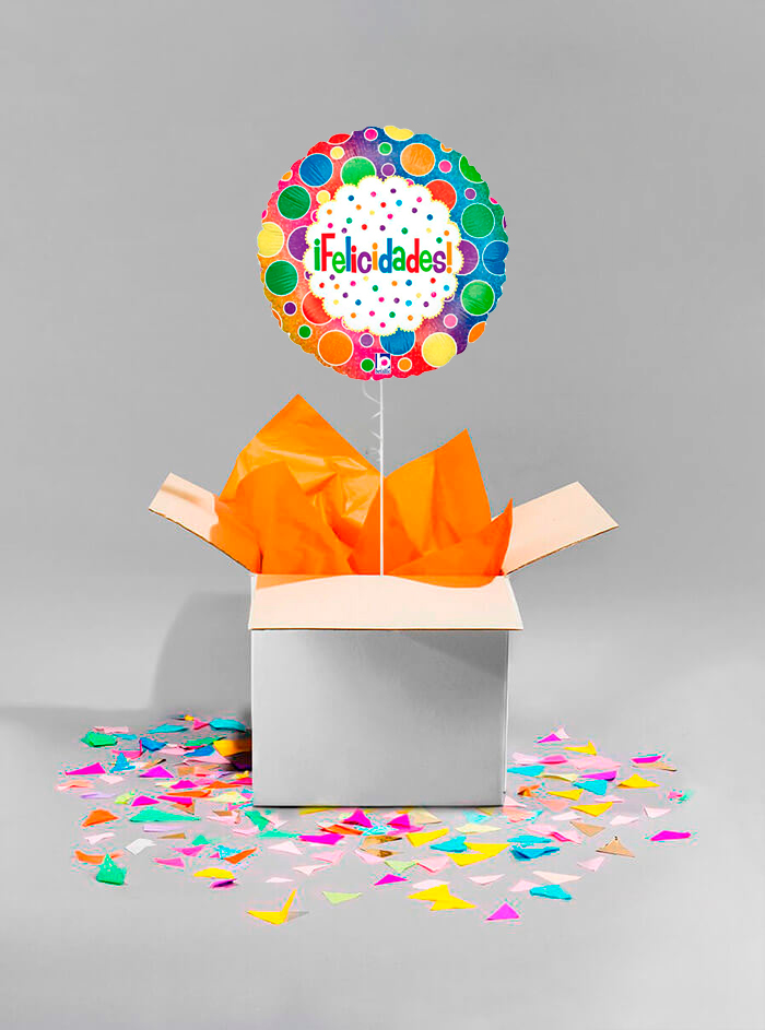 Caja sorpresa Felicidades