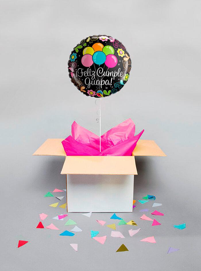 Caja sorpresa Feliz Cumple Guapa