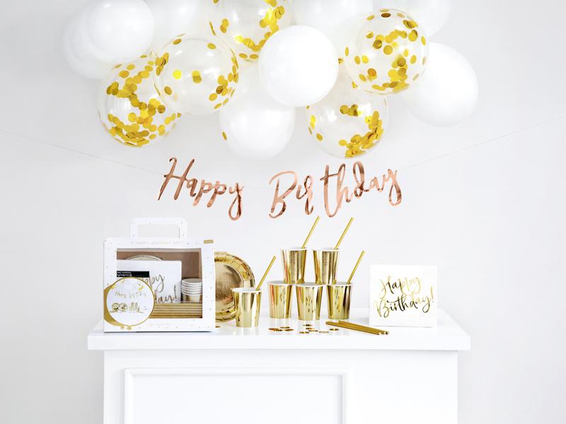Kit decoración fiesta Happy Birthday