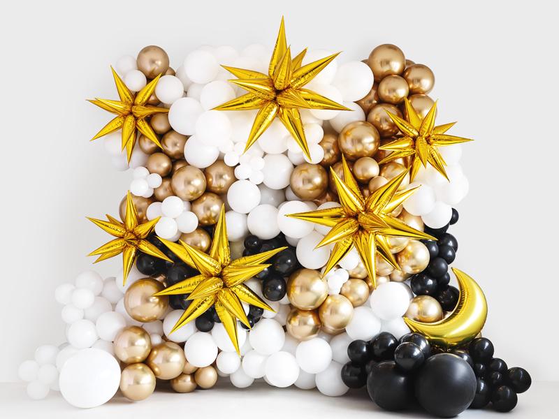 Globo estrella dorada 3D 95 cm