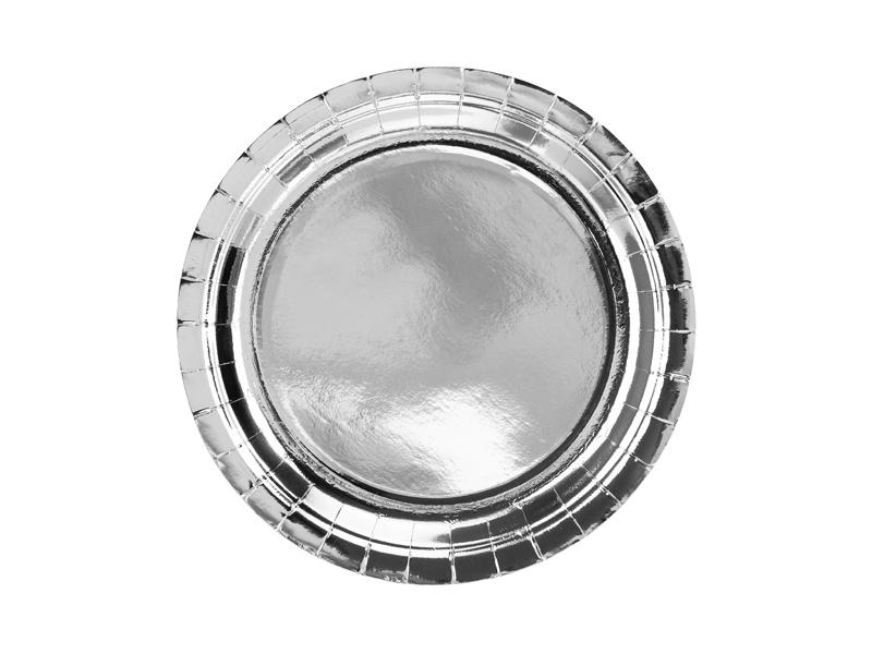 Platos plata brillo 23 cm