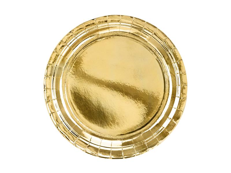Platos dorados brillo 23 cm