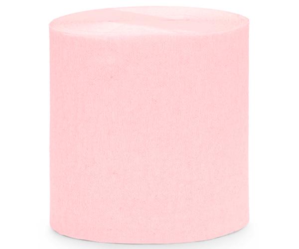 Papel Crepe serpentina rosa claro