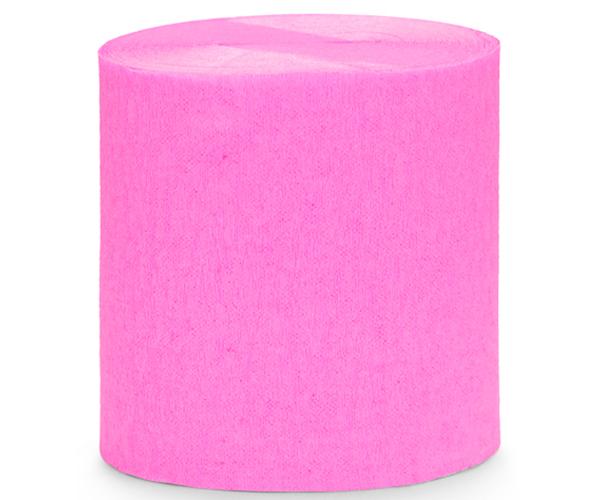 Papel Crepe serpentina rosa