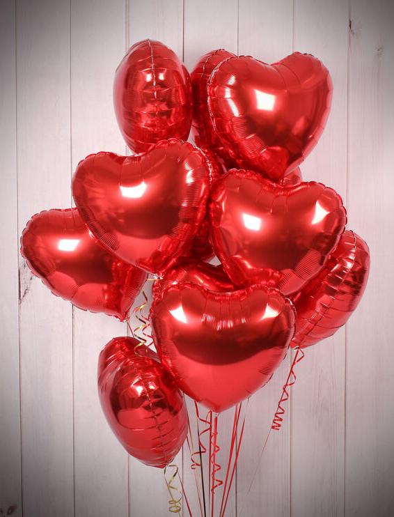 Globo metálico corazón Rojo