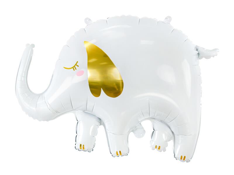 Globo metálico Elefante blanco
