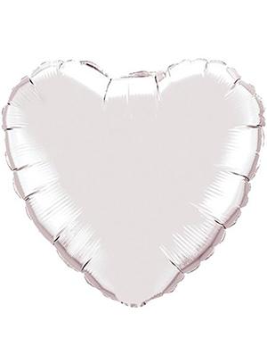 Globo metálico corazón Blanco