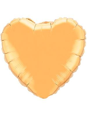 Globo metálico corazón Oro