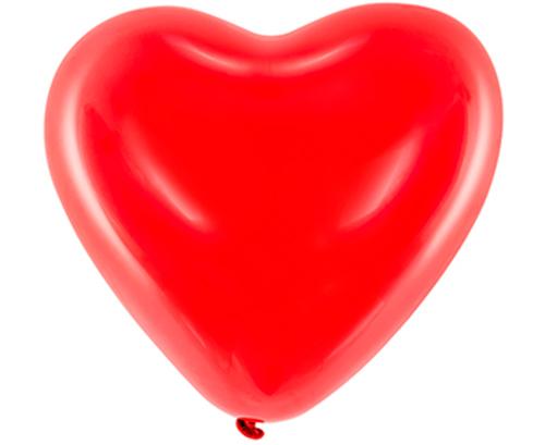 Globos de látex Corazón color Rojo
