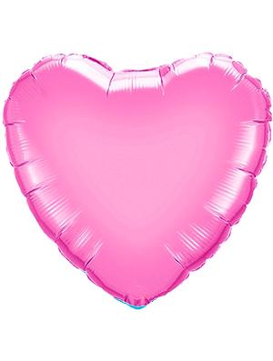 Globo metálico corazón Rosa