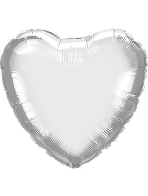 Globo metálico corazón Plata