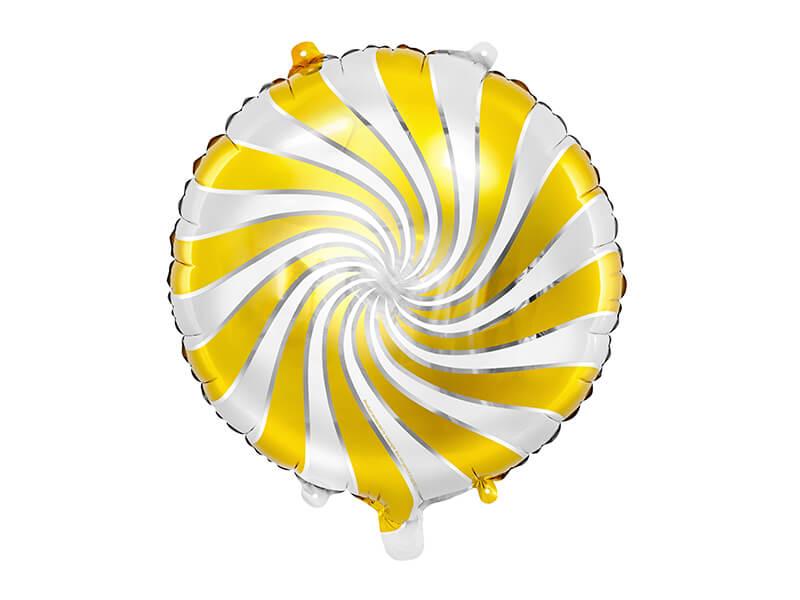 Globo metálico caramelo dorado